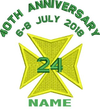 24 (40th Anniversary) Embroidered Polo shirt